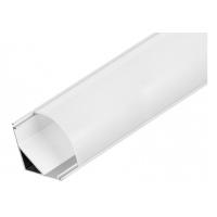 Алуминиев ъглов профил за led лента 16x16x2м. с матиран разсейвател